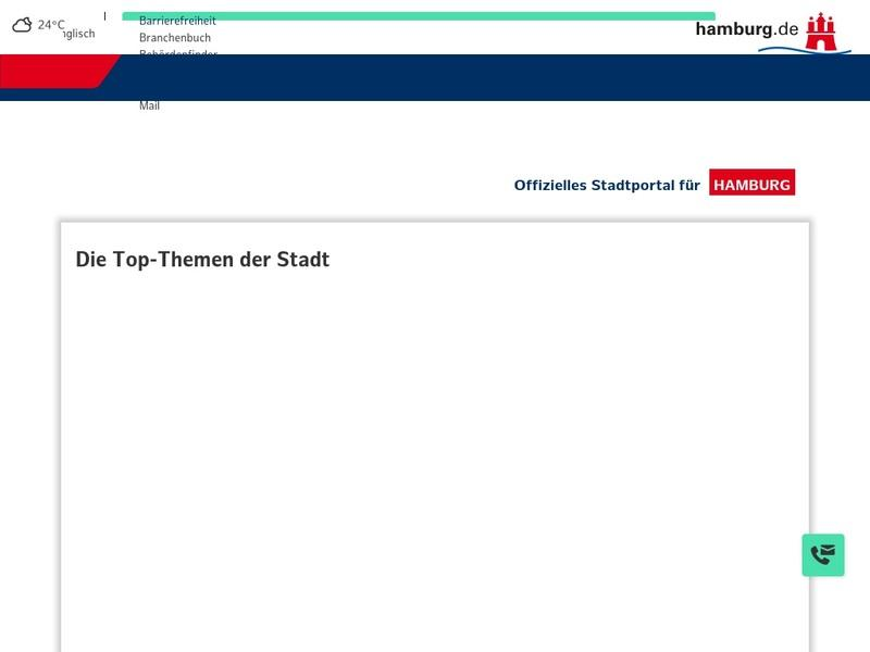 Screenshot von http://www.hamburg.de